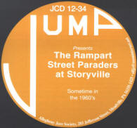 Rampart Street Paraders at Storyville CD Cover