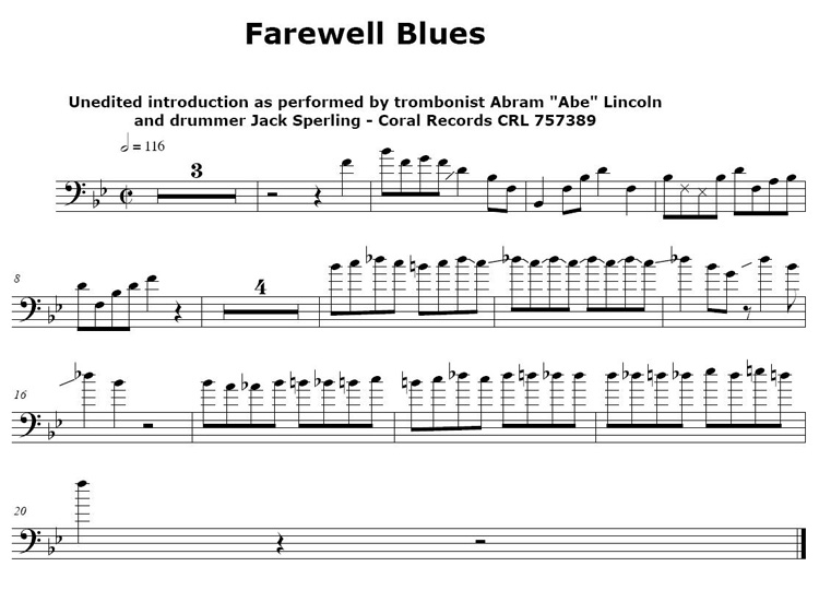 Farewell Blues Abe Lincoln Intro
